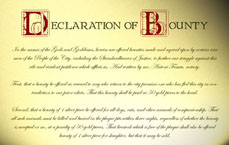 Declaration of Bounty