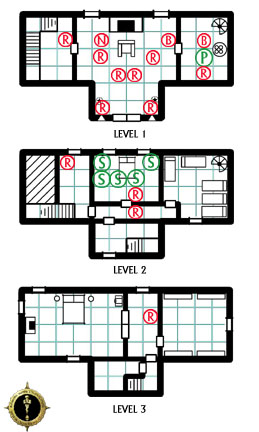 Manor House Siege - Encounter Map