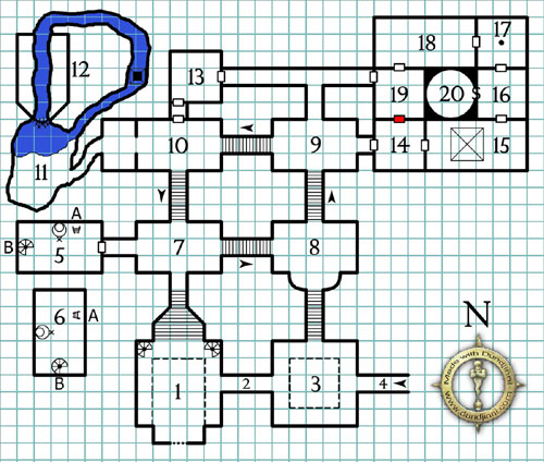 Halls of the Mad Mage - Map