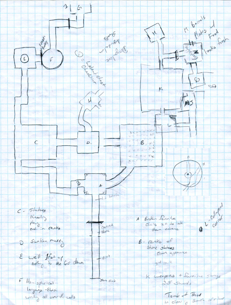 Crypt of Luan Phien - Player's Map 1