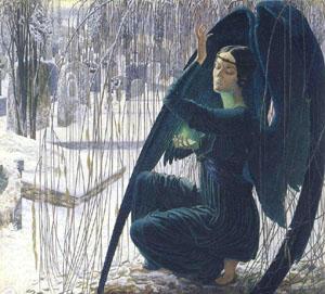 Carlos Schwabe - Death and the Gravedigger
