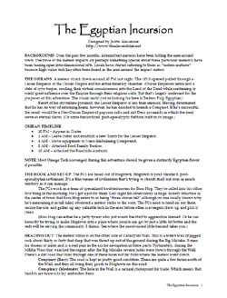 Egyptian Incursion PDF