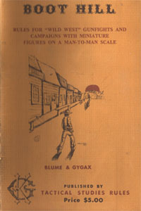 Boot Hill (1st Edition) - Blume &amp; Gygax