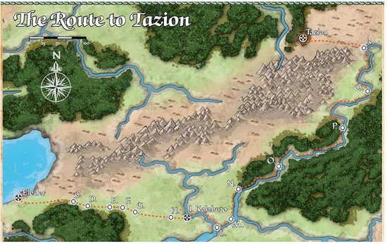 Route to Tazion - Serpent's Skull