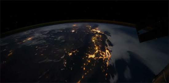 Astronomy Picture of the Day - Flying Over Earth at Night