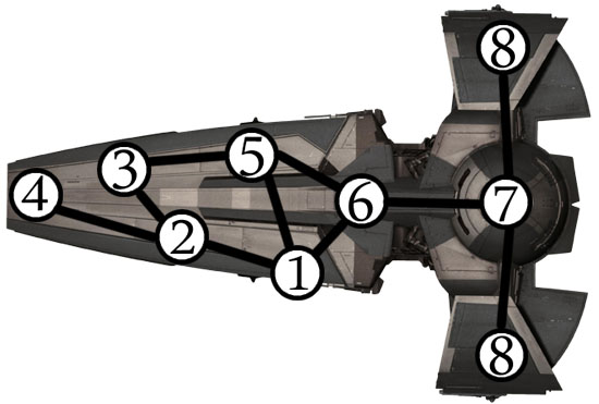 Sith Infiltrator With Node Map