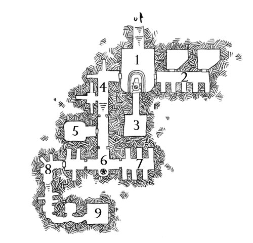 Map of Hex F15: Skull Rock - Dyson Logos