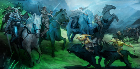 The Melee of Wolves and Horses - Alex Drummond