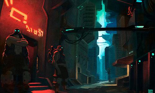Cyberpunk Alley Pub - Brosa