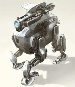 Robot Concept Art - Sean Yoo