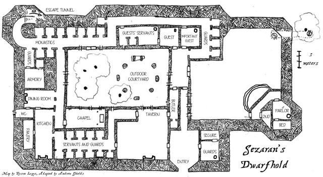 Sezaran's Dwarfhold - Fictive Fantasies (Map by Dyson Logos)