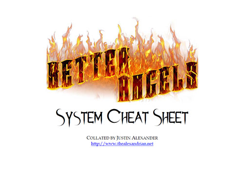 Better Angels - System Cheat Sheet