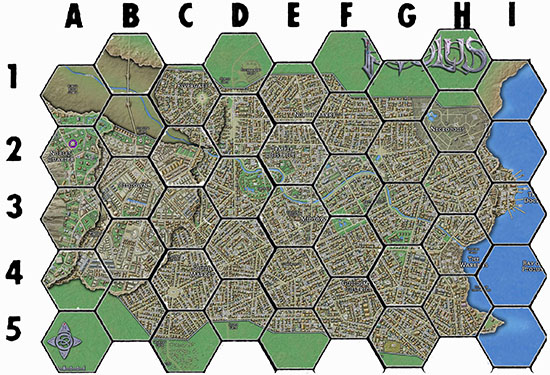 Ptolus - Experimental Hex Map