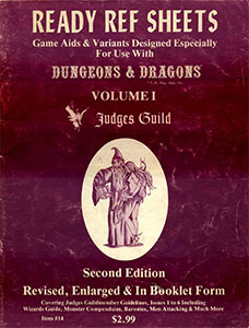 Ready Ref Sheets (1978) - Judges Guild