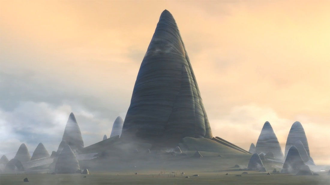 Jedi Temple Outside Building Episode