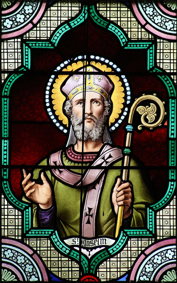 St. Anselm of Canterbury - English Stained Glass (19th Century)