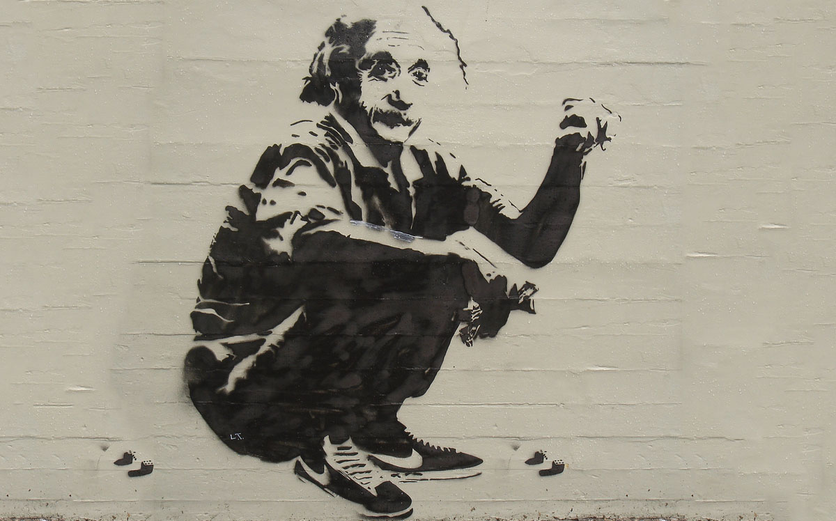 Einstein at Dice - Banksy