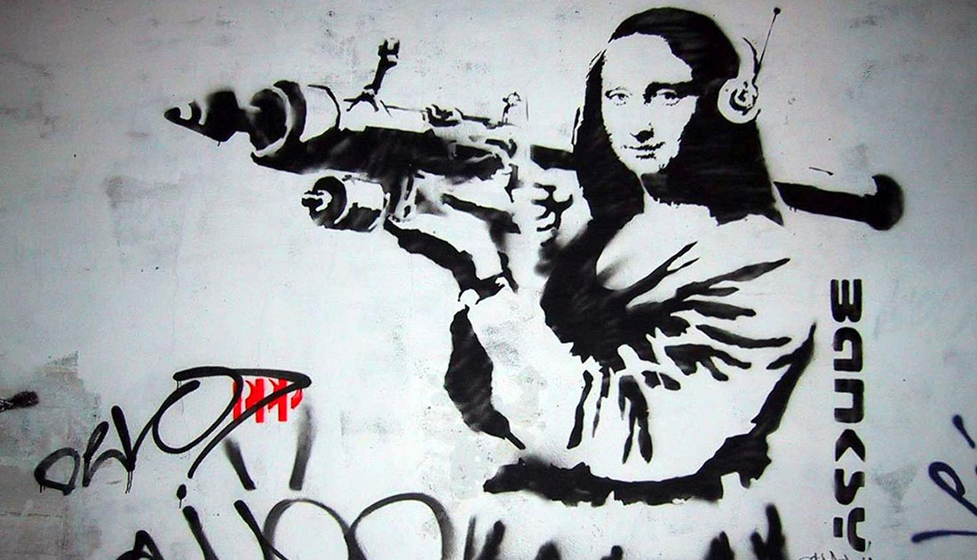 Banksy - Mona Rocket Lisa
