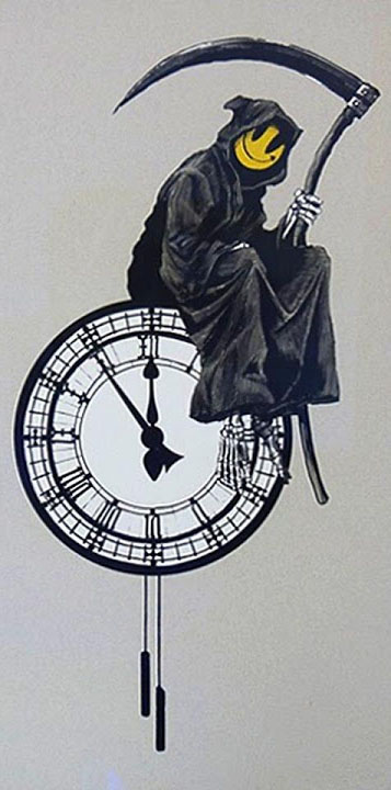 Death on a Clock - Banksy
