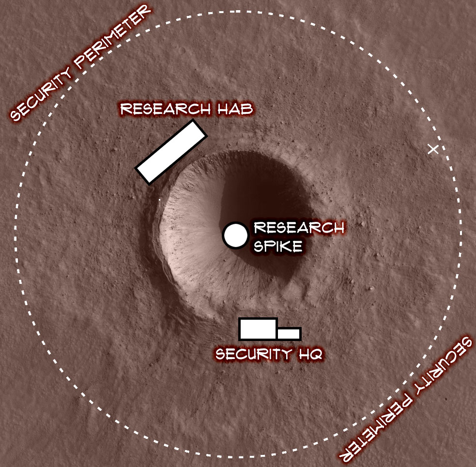 Map - Crater X-91