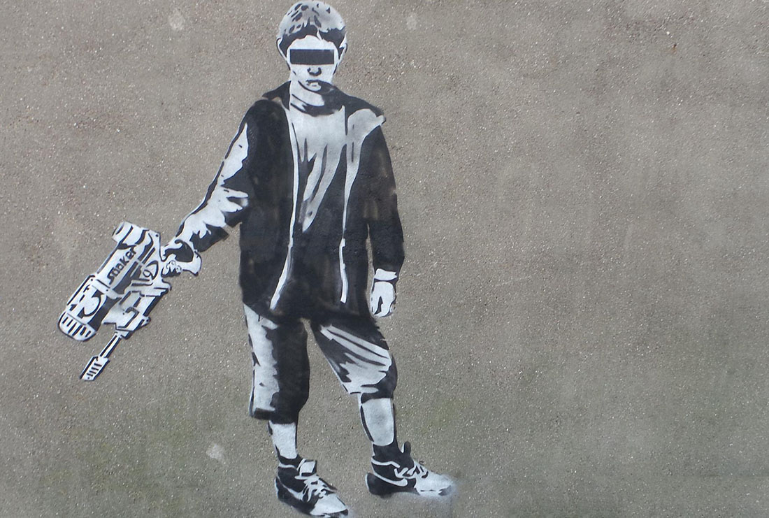 Banksy - Blind Water Sniper