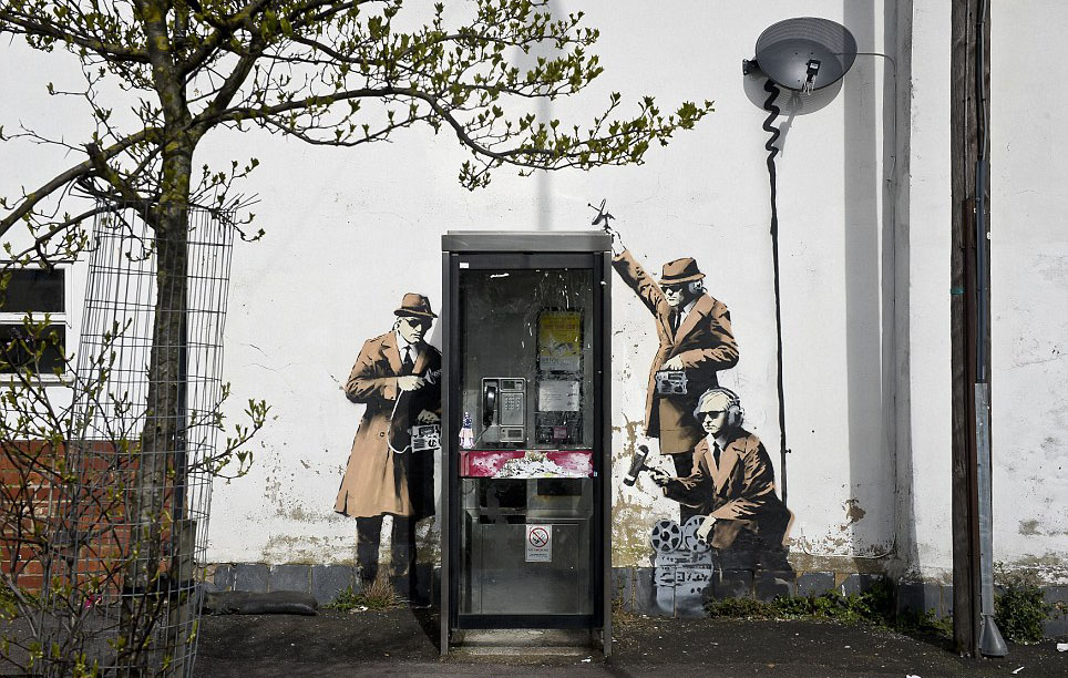 Banksy - Surveillance Team