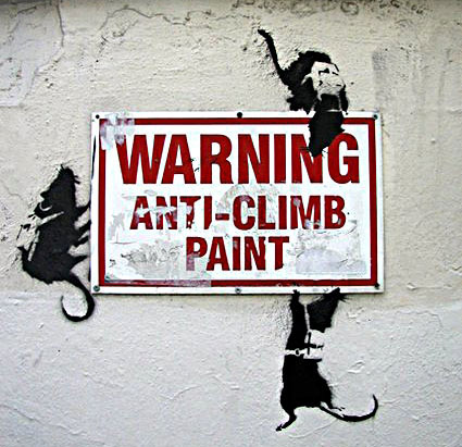 Banksy - Anti-Climb Paint